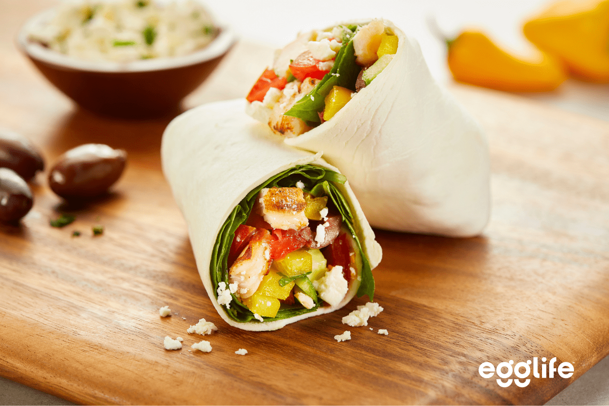 quick-and-easy greek chicken wrap