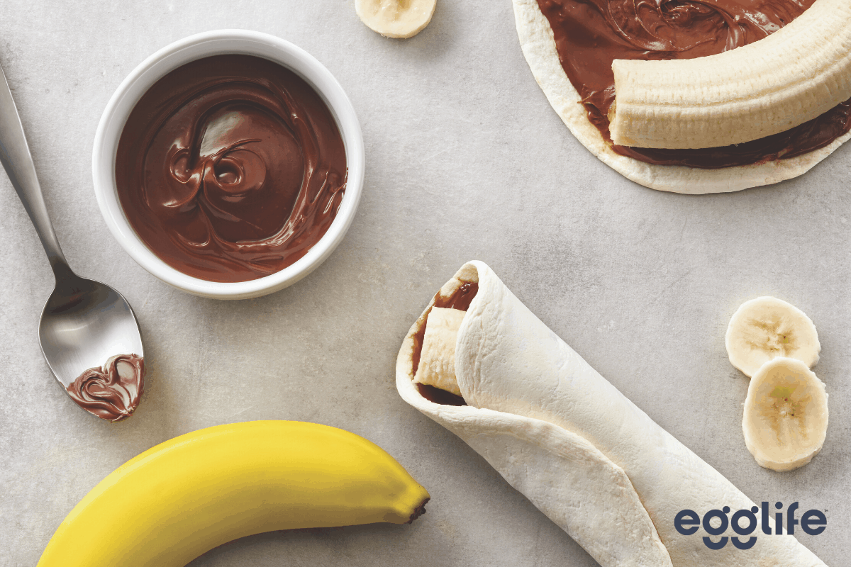 kid-approved banana nutella wrap