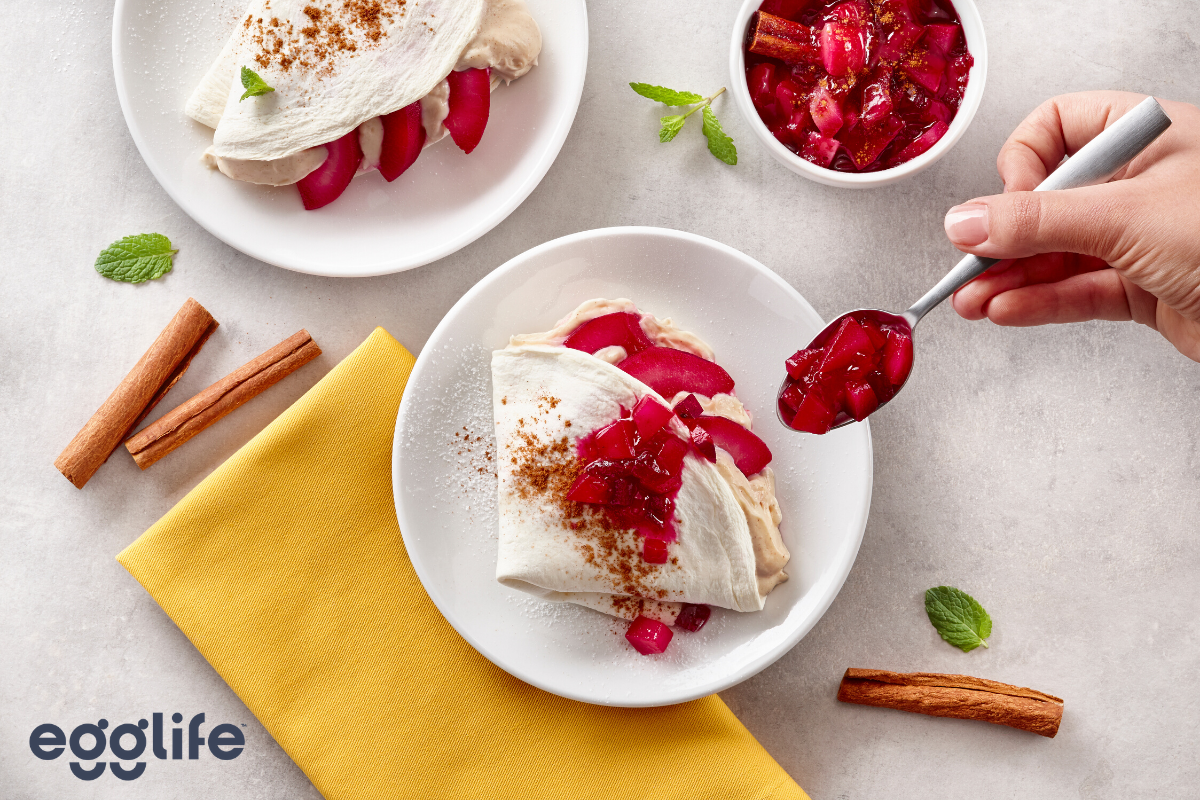 gluten-free red wine poached pears with cinnamon mascarpone