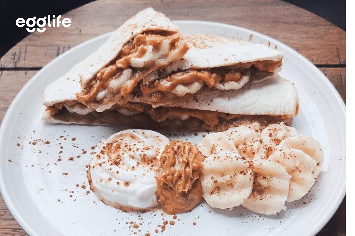 Grilled Banana and Peanut Butter Quesadilla