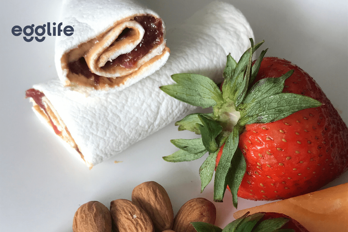 quick-and-easy almond butter & jelly roll-up