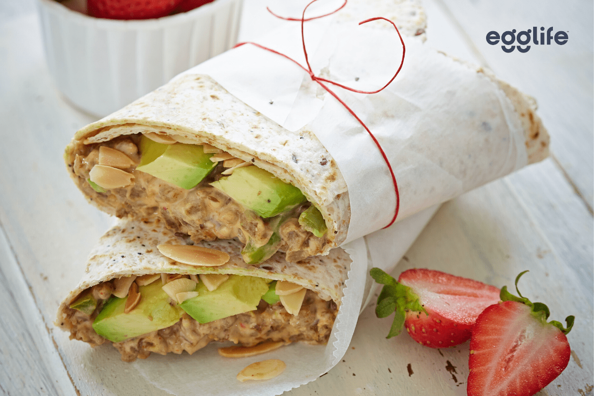 easy but oh-so-good meatless tuna fish wrap