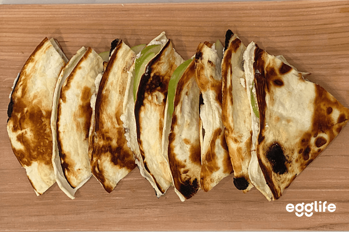 Keto Goat Cheese Apple Quesadilla