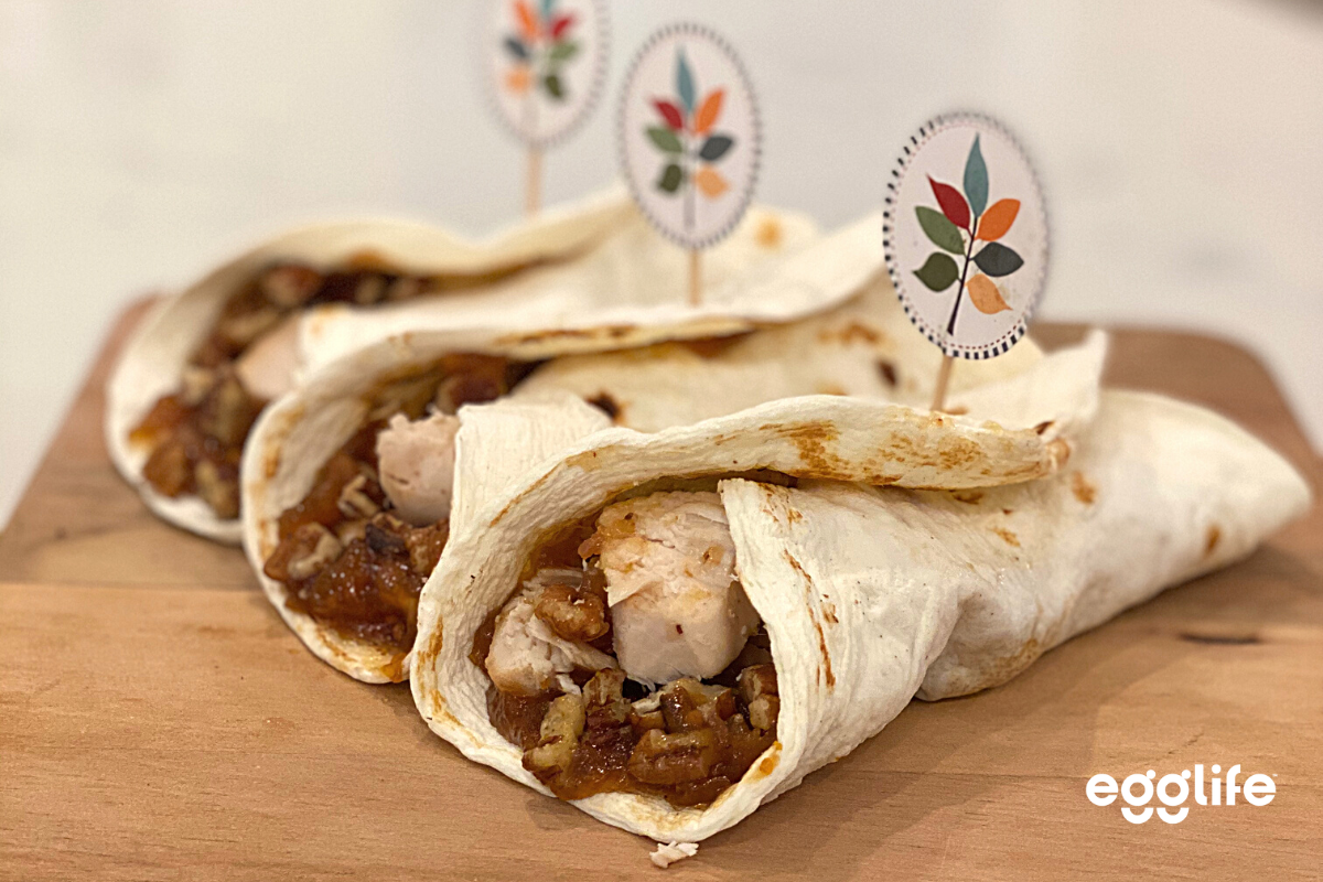 Keto Apple-Chutney Chicken Wrap